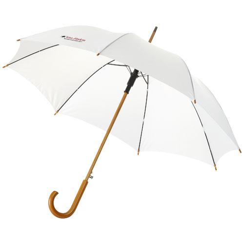 """Parapluie 23"""" à ouverture automatique, poignée et mât en bois - 109048"""