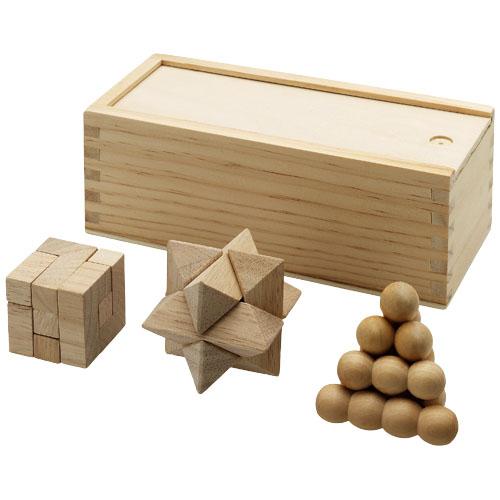 Casse-tête chinois en bois 3 pièces