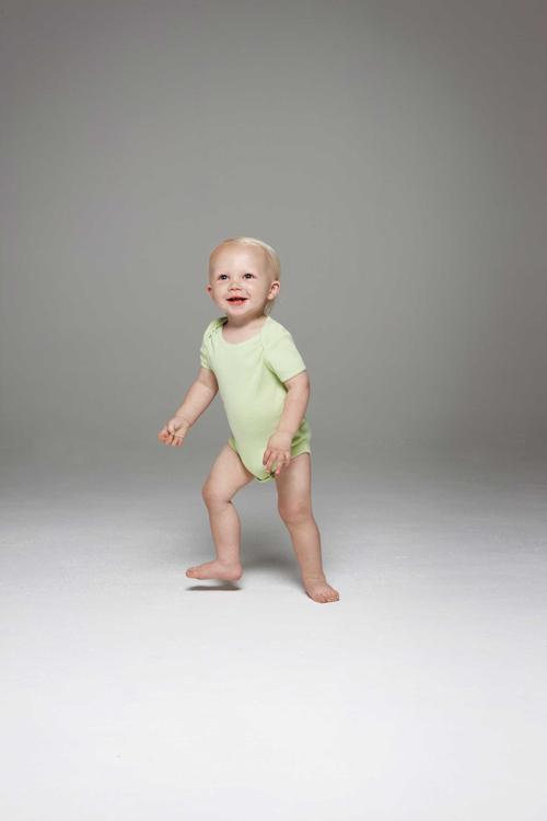 Baby rib short sleeve one piece