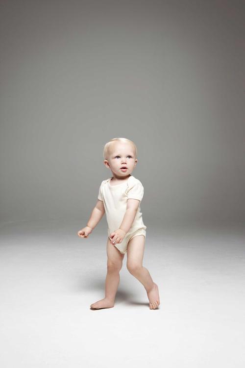 "Baby rib organic short sleeve one piece body bébé manches courtes ""bio"""