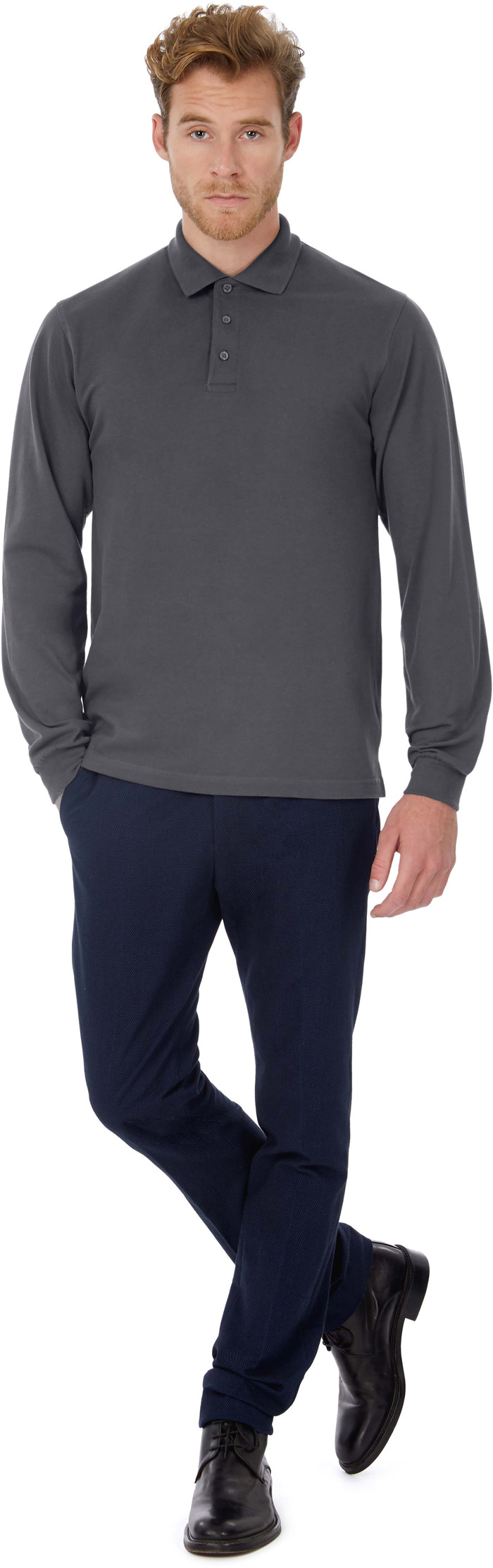Polo homme manches longues heavymill - CGHEAML