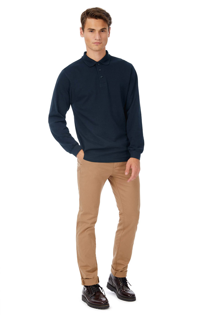 Polo homme safran manches longues - CGSAFML