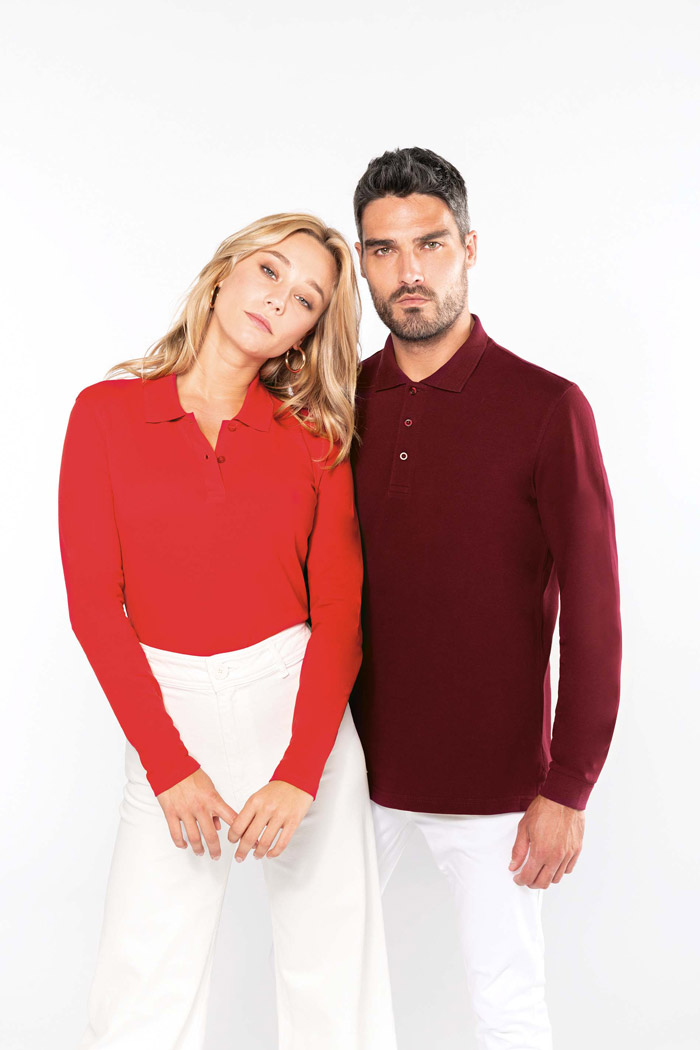 Polo manches longues femme - K244