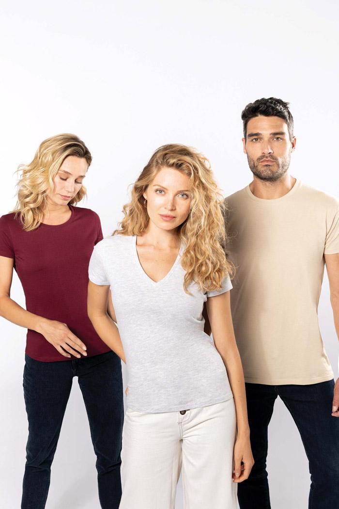 T-shirt bio150 col v femme - K3029