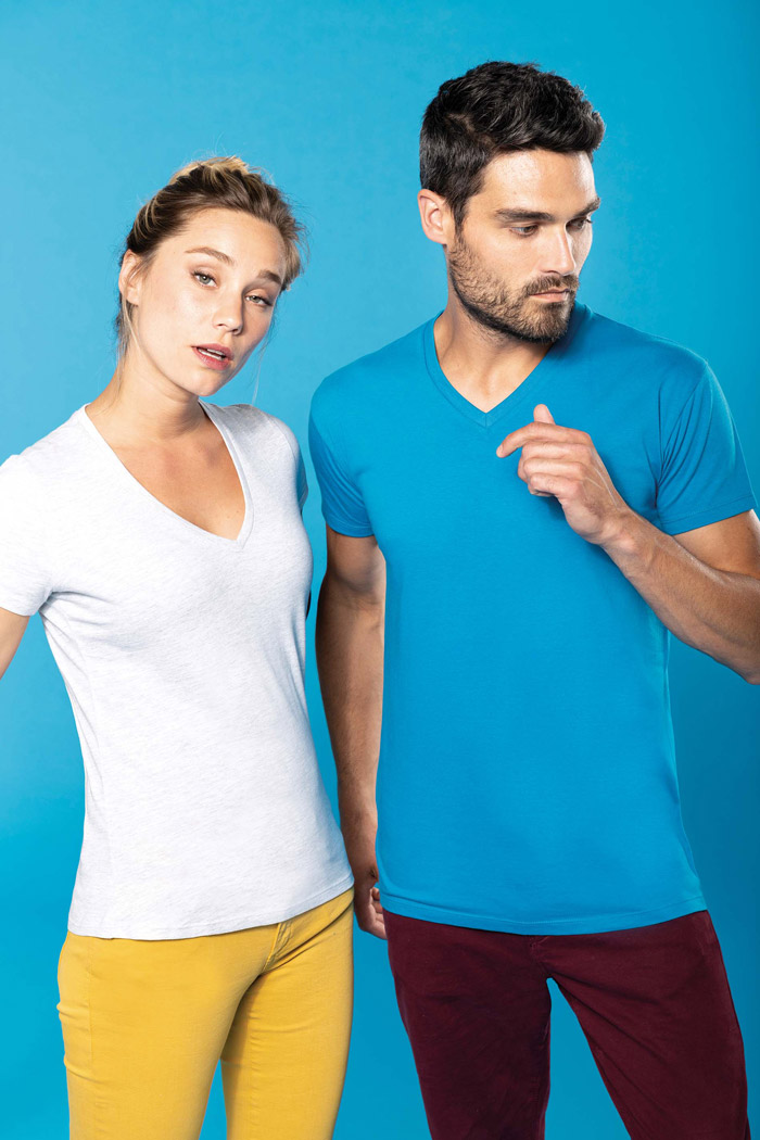 T-shirt bio150 col v homme - K3028