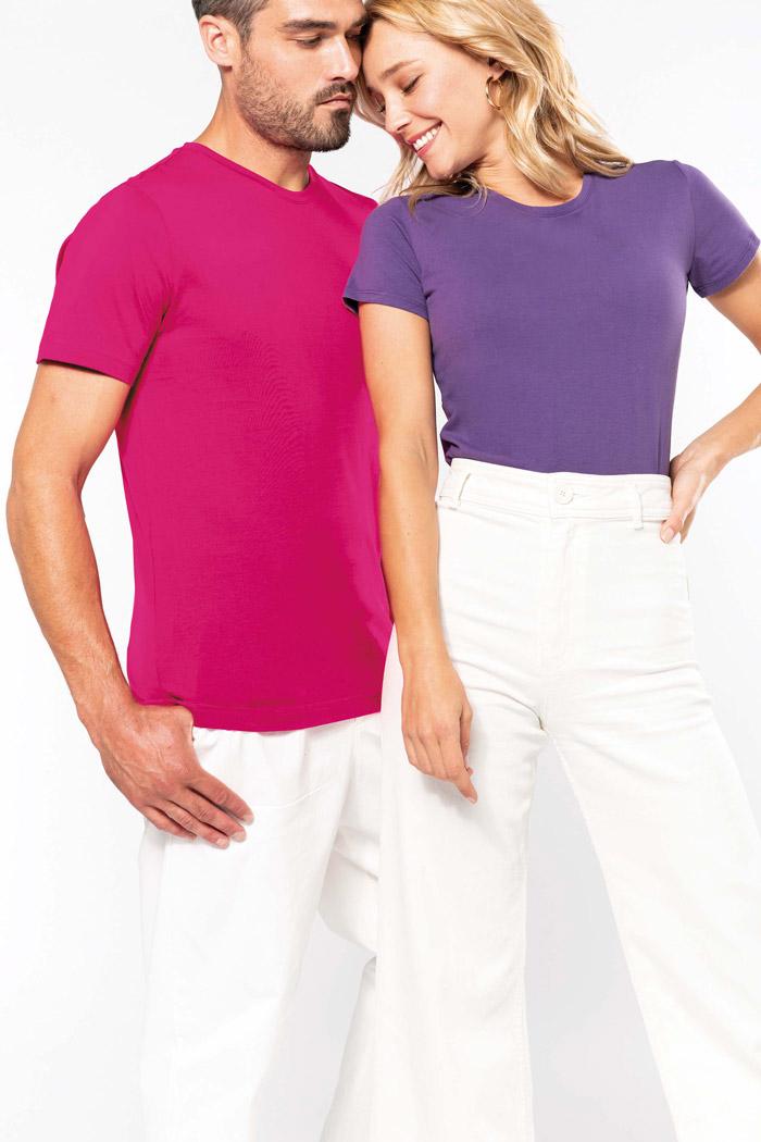T-shirt col rond manches courtes femme - K380