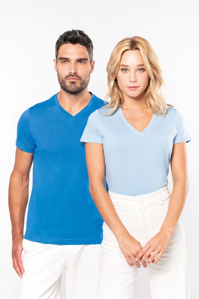 T-shirt col v manches courtes - K357