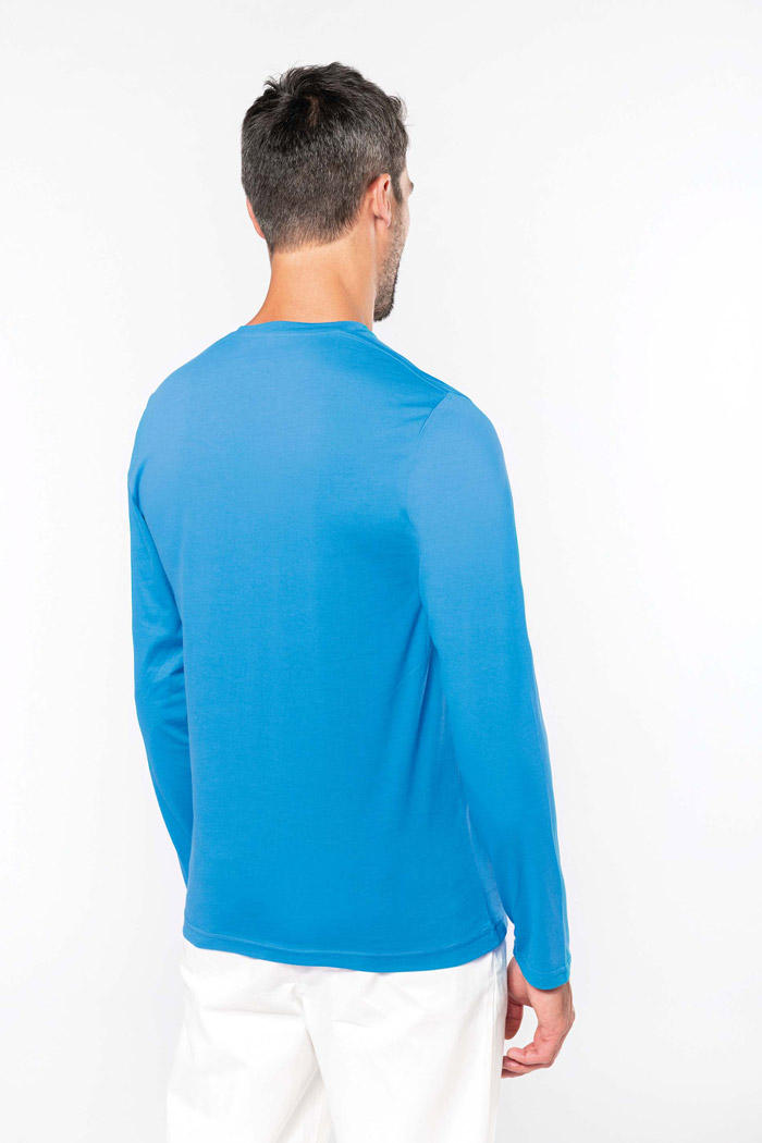 T-shirt col v manches longues - K358