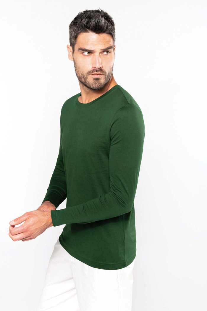 T-shirt col rond manches longues - K359