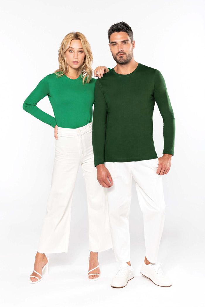 T-shirt col rond manches longues femme - K383