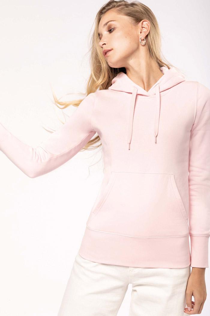 Sweat-shirt écoresponsable à capuche femme - K4028