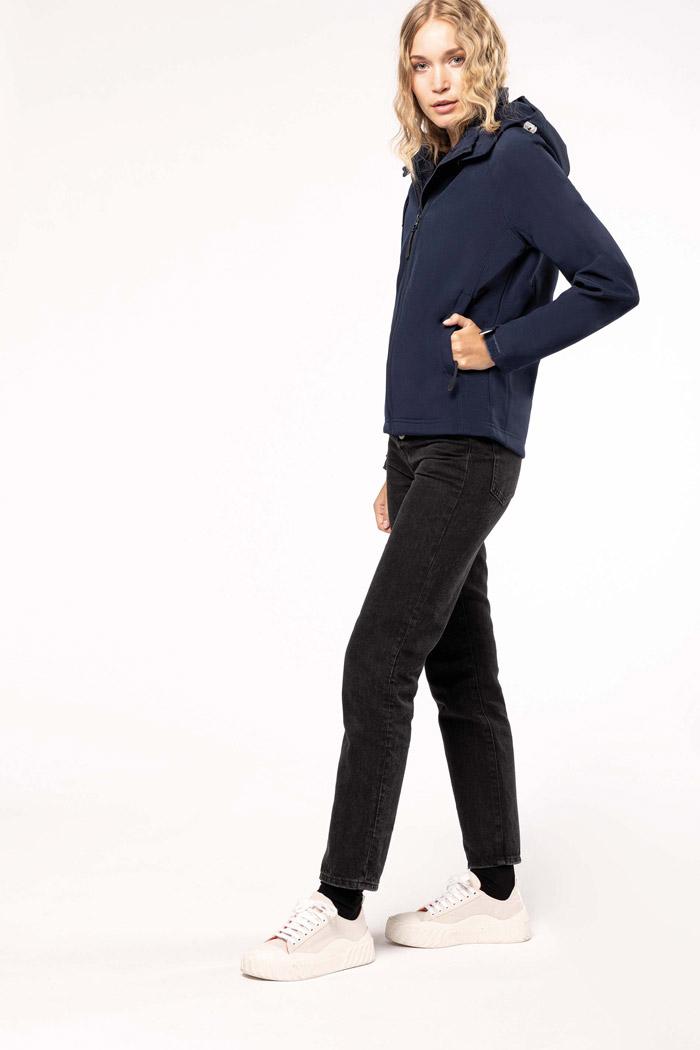 Veste softshell à capuche amovible femme - K414