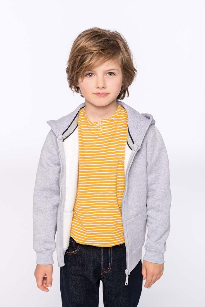 Sweat-shirt capuche zippé enfant - K455