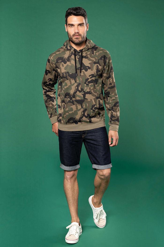 Sweat-shirt capuche homme - K476