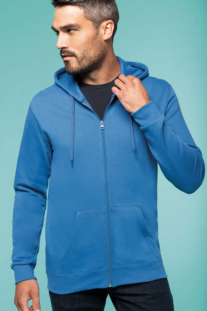 Sweat-shirt zippé capuche - K479