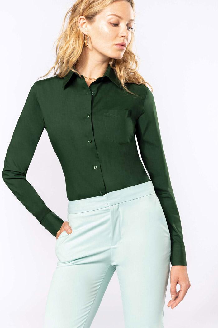 Jessica > chemise manches longues femme - K549