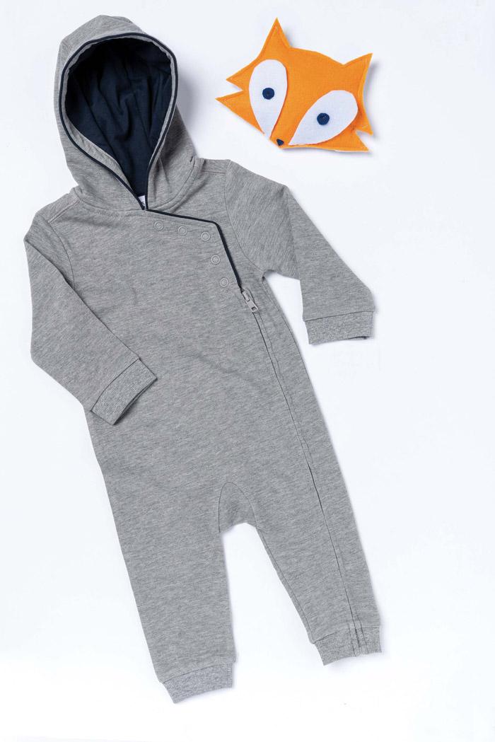 Grenouillère bébé avec capuche - K830