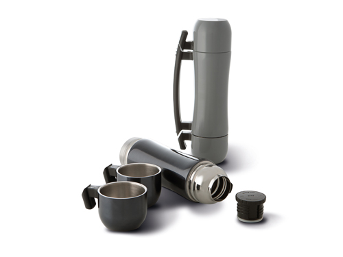 Bouteille isotherme inox avec tasses  500 ml