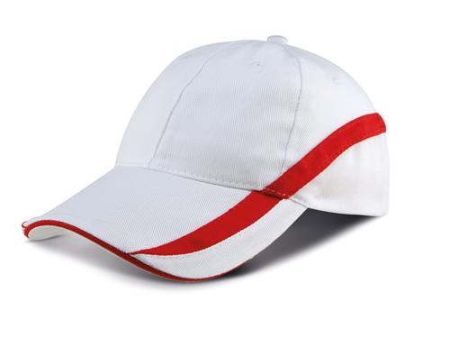 Team - casquette bicolore 6 panneaux