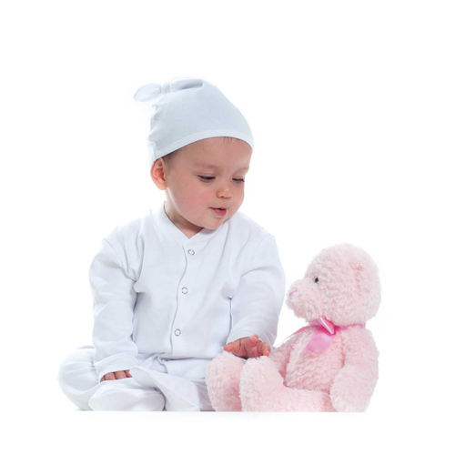 Baby top knotted hat