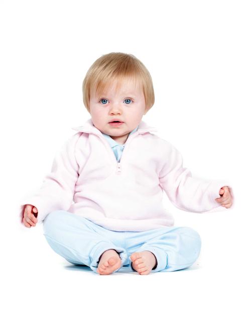 Baby zip neck - micro fleece