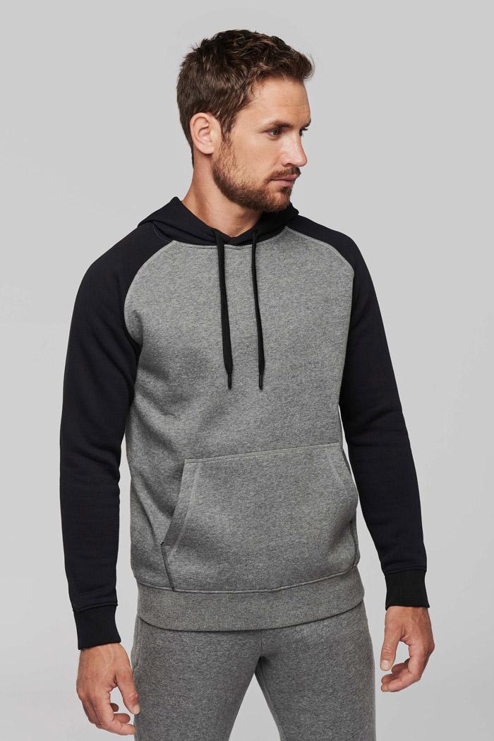 Sweat-shirt capuche bicolore adulte - PA369