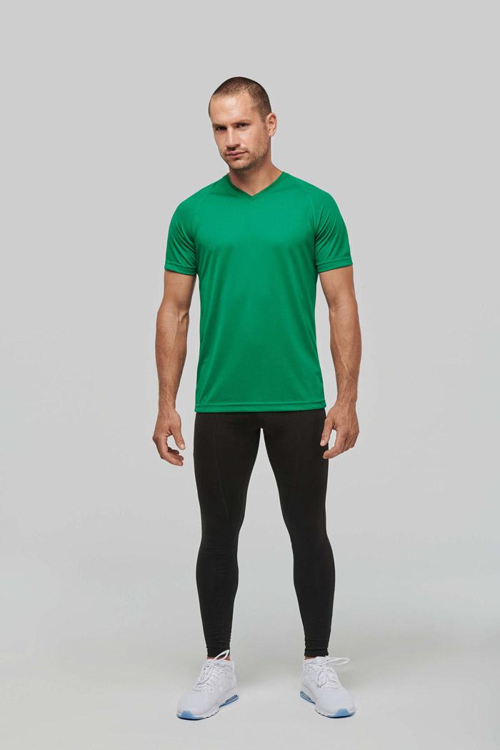 T-shirt de sport manches courtes col v homme - PA476