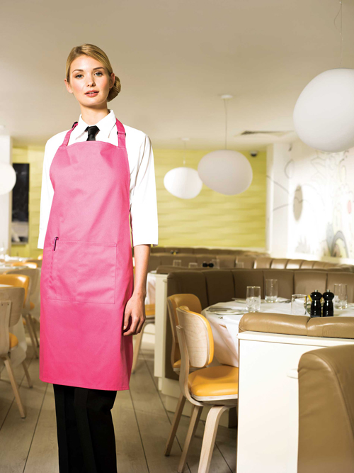 Colour apron with pocket