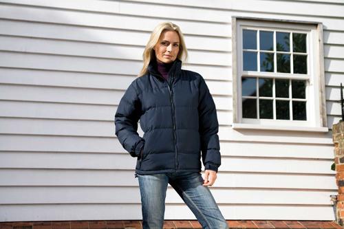 Women down feel jacket