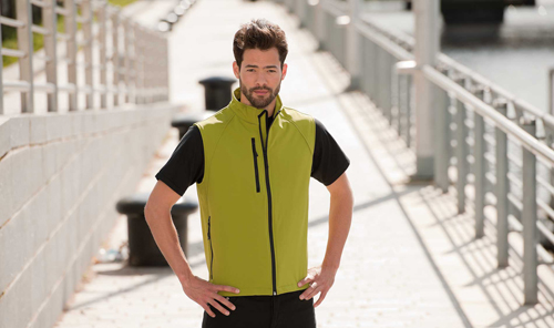 Softshell men bodywarmer