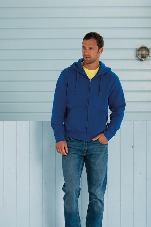 Zip hooded sweat-shirt