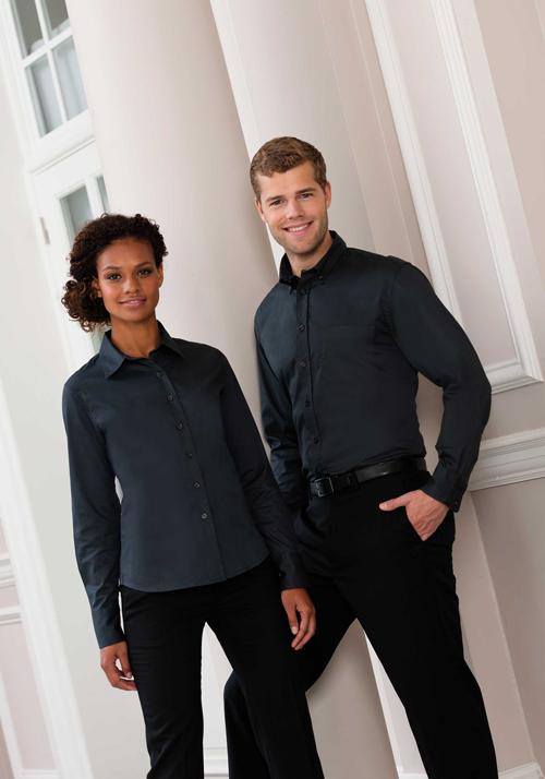 Twill shirt - chemise manches longues en coton sergé pour homme