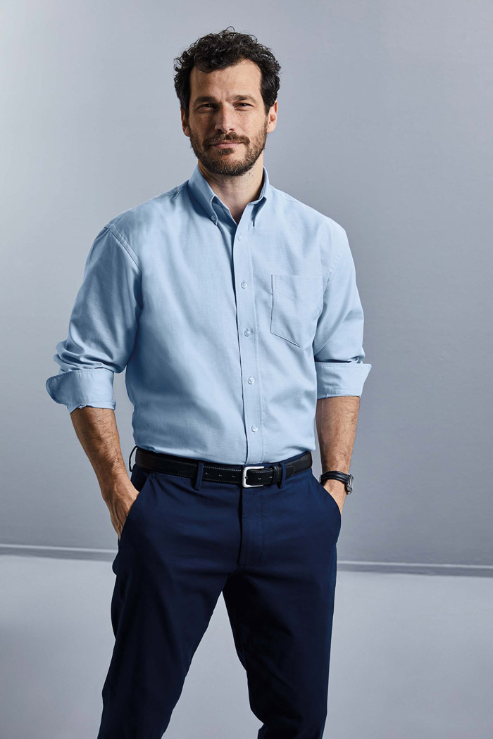 Chemise homme manches longues oxford - RU932M