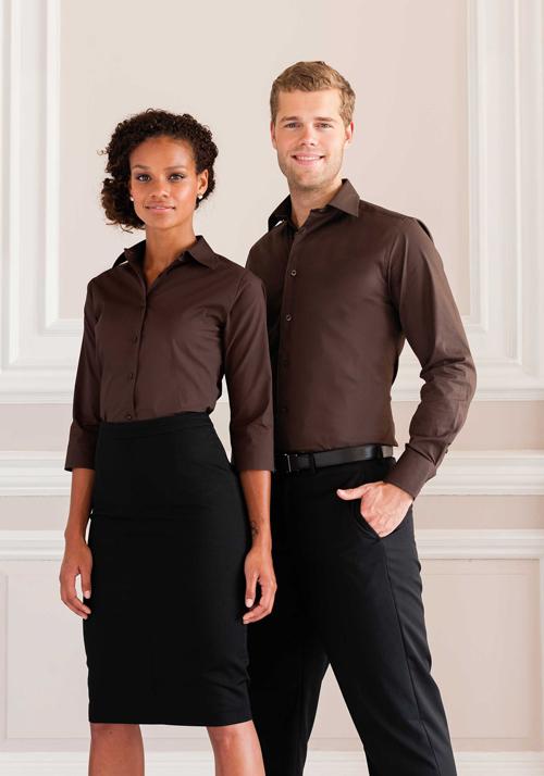 Ladies fitted shirt - chemise femme ajustée, manches 3/4