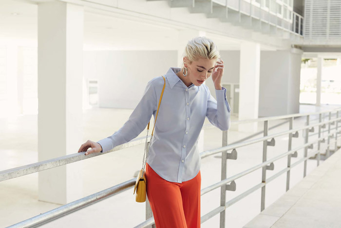 Chemise femme manches longues oxford (65-002-0) - SC65002