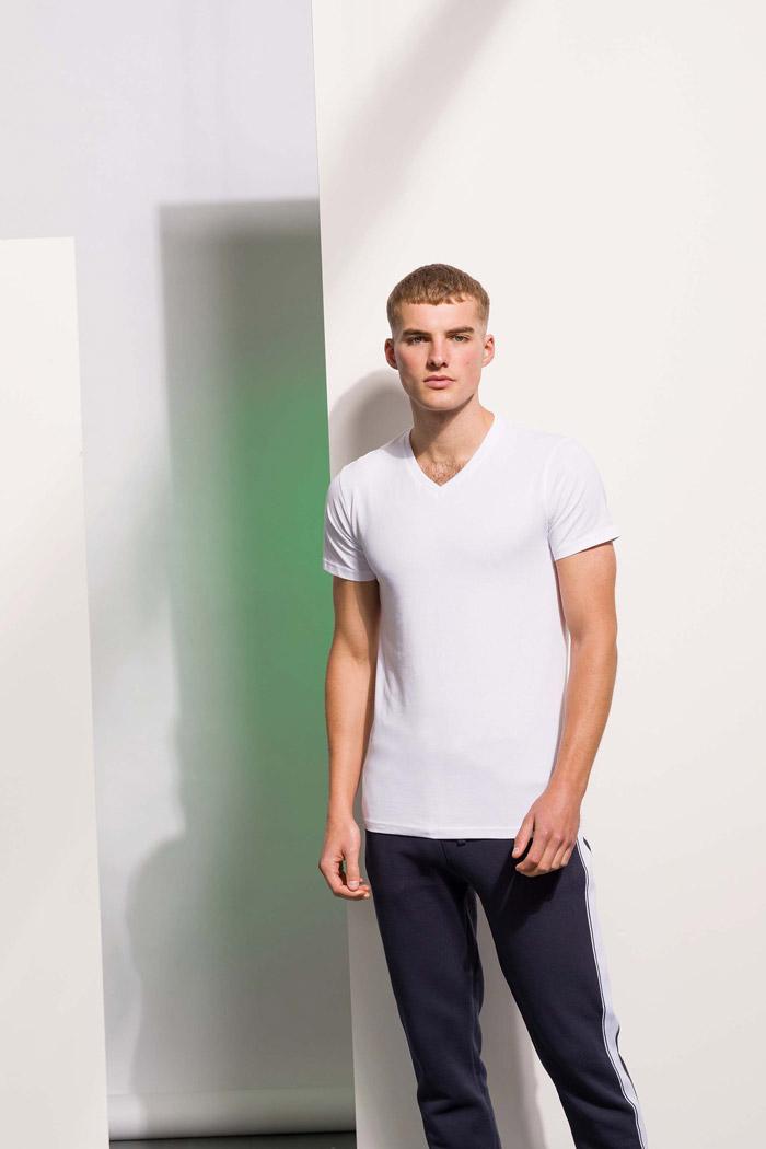 T-shirt homme col v feel good - SFM122