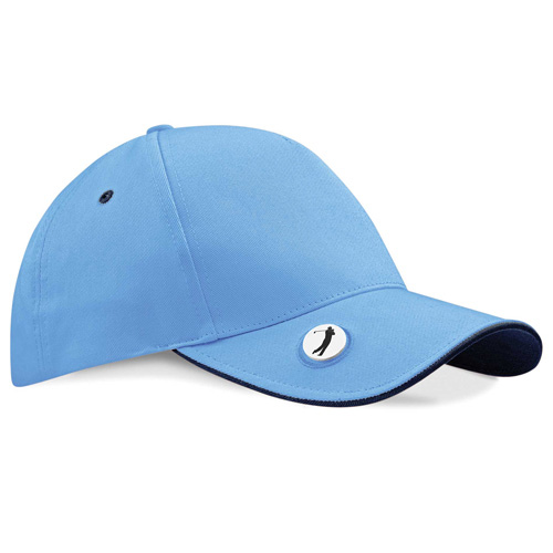 Ball mark golf cap