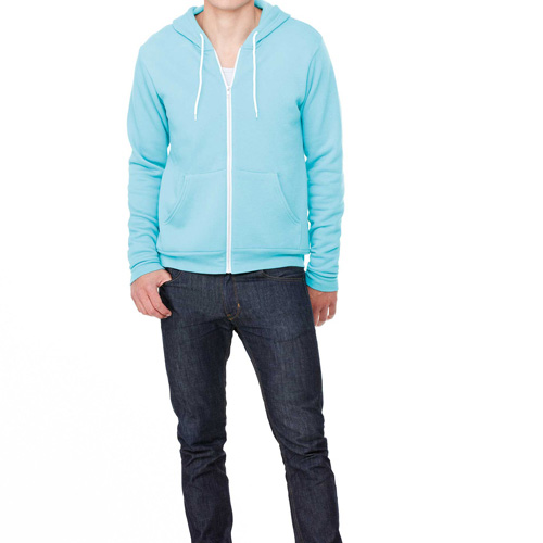 Unisex zip-up fleece hoodie