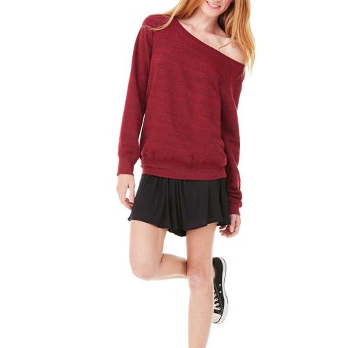 Triblend wideneck sweatshirt