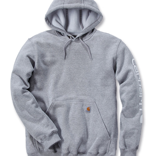 Sweatshirt hooded sleeve logo