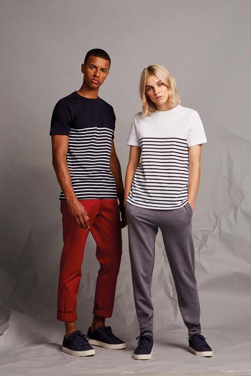 T-shirt breton À manches courtes