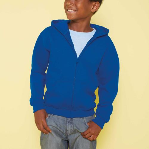 Kids full zip hooded sweat