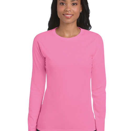 Ladies' fitted lsl t-shirt