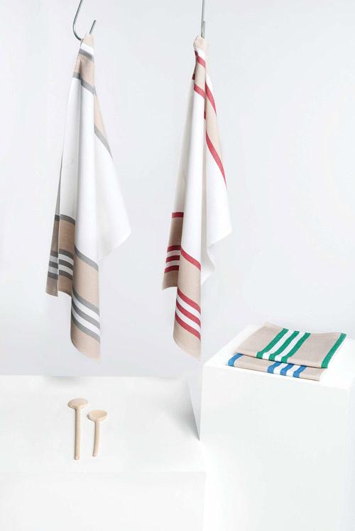Essuie-vaisselle à rayures