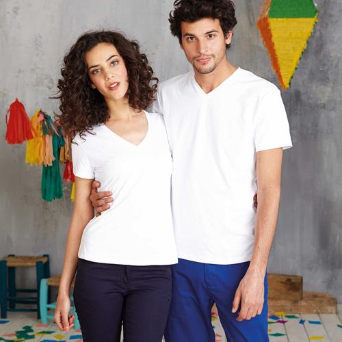 Calypso > t-shirt col v manches courtes
