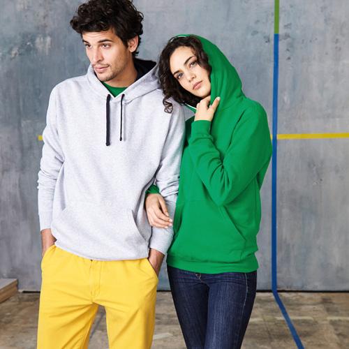 Sweat-shirt capuche contrastÉe unisexe
