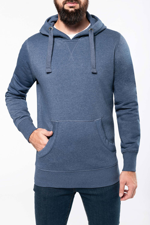 Sweat-shirt capuche ''mélange'' homme