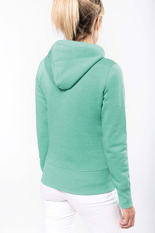 Sweat-shirt capuche ''mélange'' femme