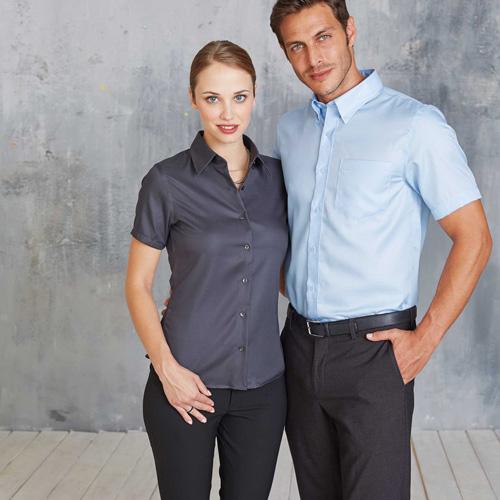 Chemise manches courtes sans repassage