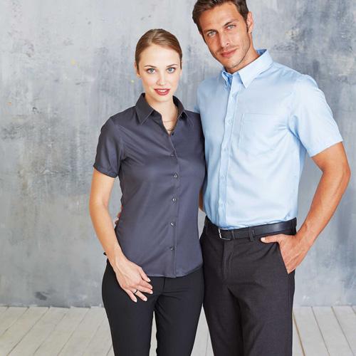 Chemise manches courtes sans repassage femme